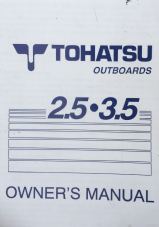 Tohatsu outboard 2.5, 3.5hp Owner's Manual